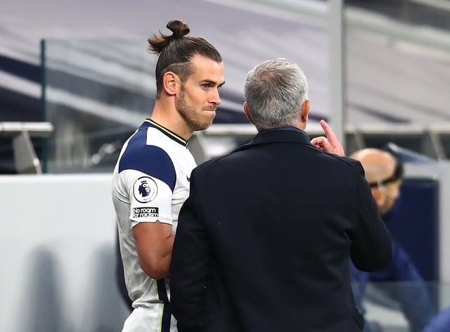 Tottenham boss Jose Mourinho was delighted for Gareth Bale, left, after he scored the winner against Brighton