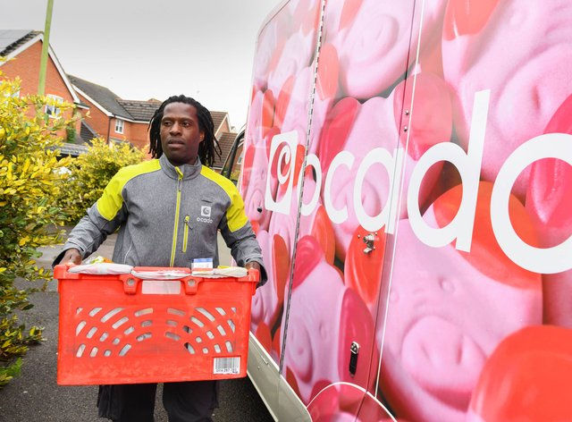 An Ocado delivery