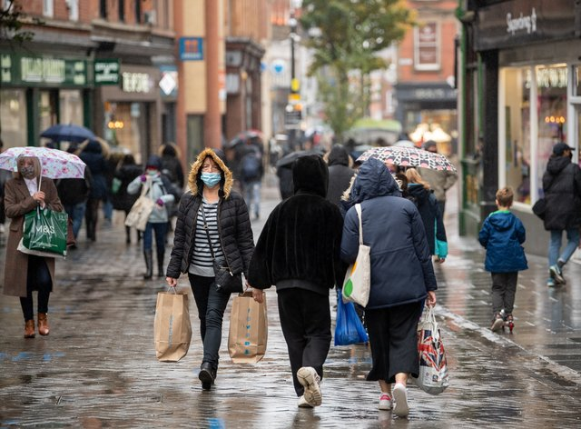 Shoppers in Nottingham