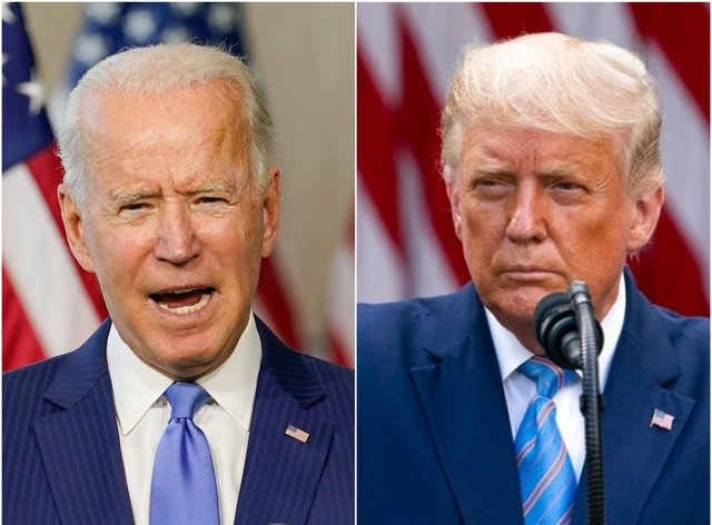 "Joe Biden's victory was projected shortly after Donald Trump said he had won ""by a lot"""