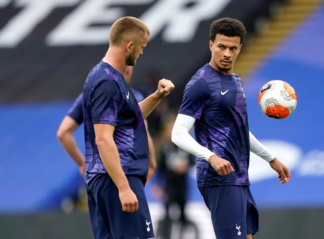 Eric Dier, left, expects Dele Alli, right, to put in the hard work