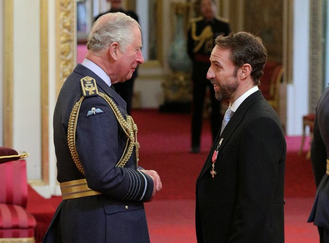 The Prince of Wales and Gareth Southgate