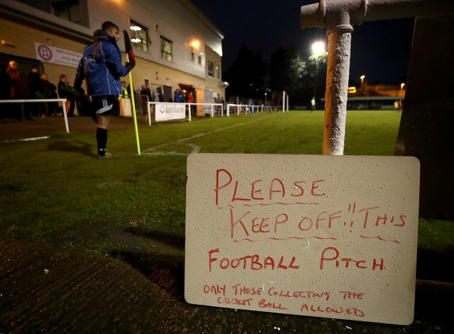 Grassroots and non-elite football is heading into another suspension due to coronavirus