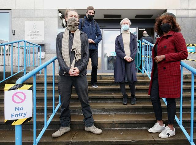 Activists arrive at court