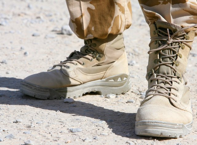A soldier's boots
