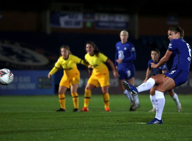 Melanie Leupolz scored Chelsea's second goal of the evening