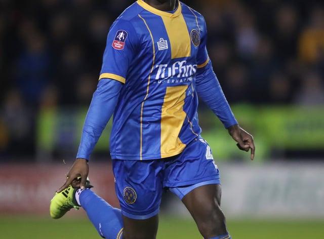 Daniel Udoh netted a last-gasp equaliser for Shrewsbury against Burton