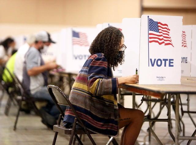 Voters in California (Elias Funez/The Union/AP)