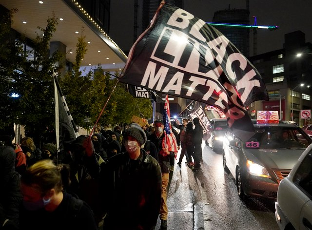 Protesters march in Seattle