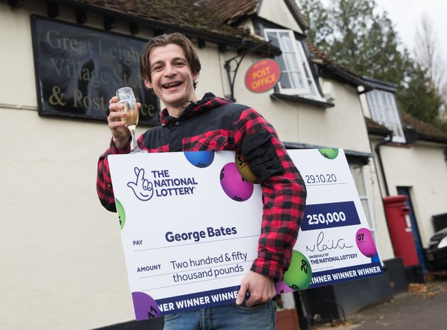 Scratchcard winner George Bates