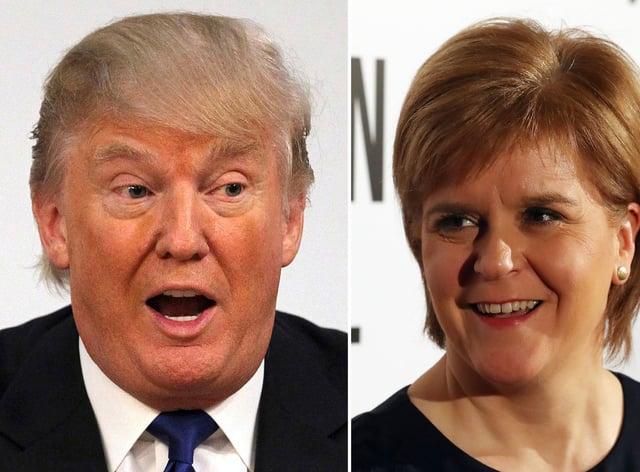 Donald Trump and Nicola Sturgeon