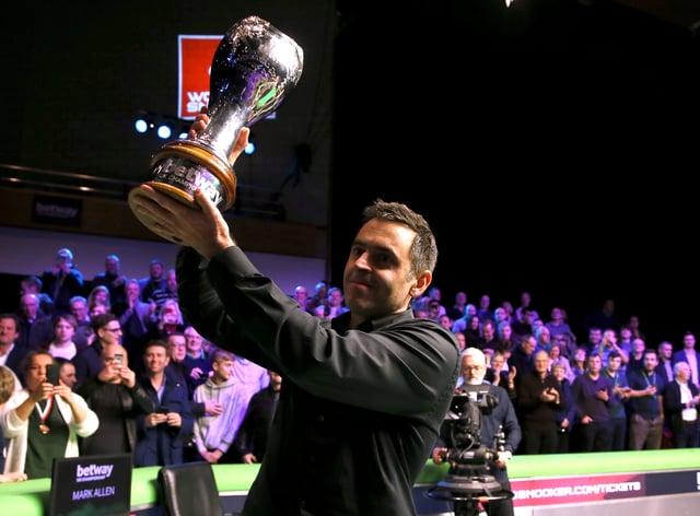 <p>O'Sullivan won his sixth world title earlier this year</p>