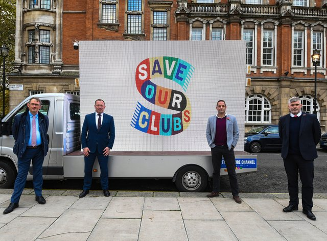 Fleetwood chief executive Steve Curwood (right) is part of the 'Save Our Clubs' campaign