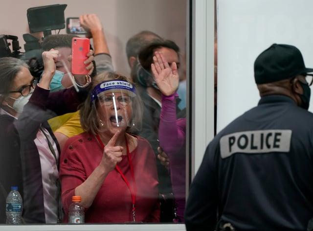 Protesters in Michigan