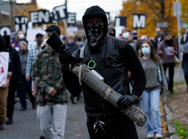 An election protest in Oregon