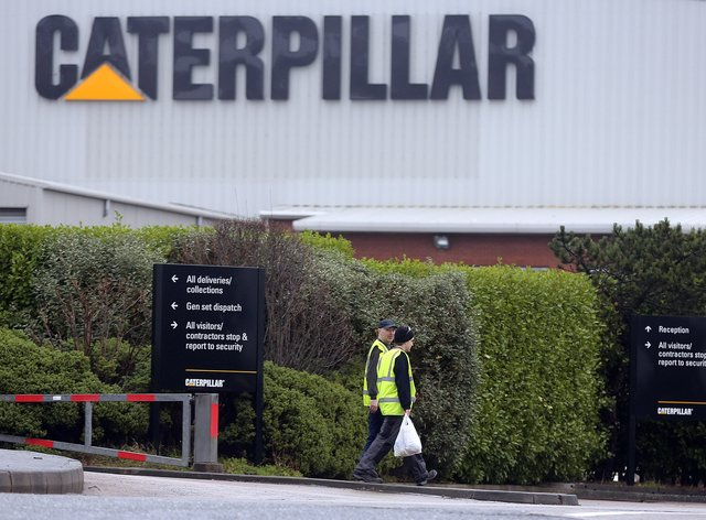 The Caterpillar factory at Larne in Co Antrim
