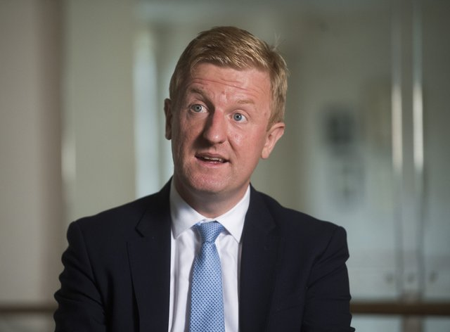 Oliver Dowden, pictured, agrees with Julian Knight