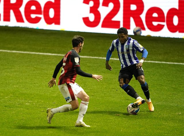 Kadeem Harris (right) was red-carded in stoppage time in Sheffield Wednesday's win over Bournemouth (Zac Goodwin/PA).
