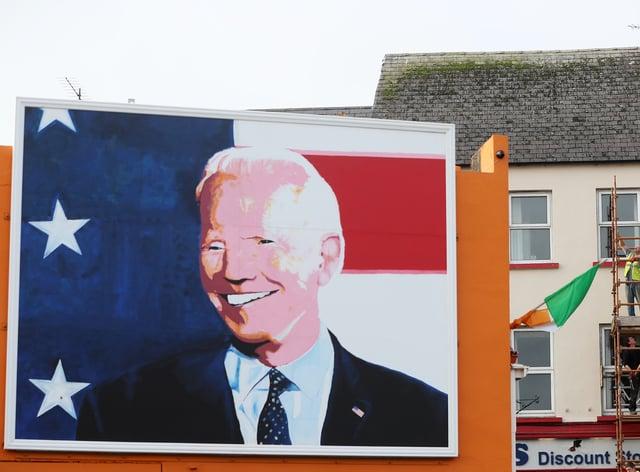 Joe Biden mural