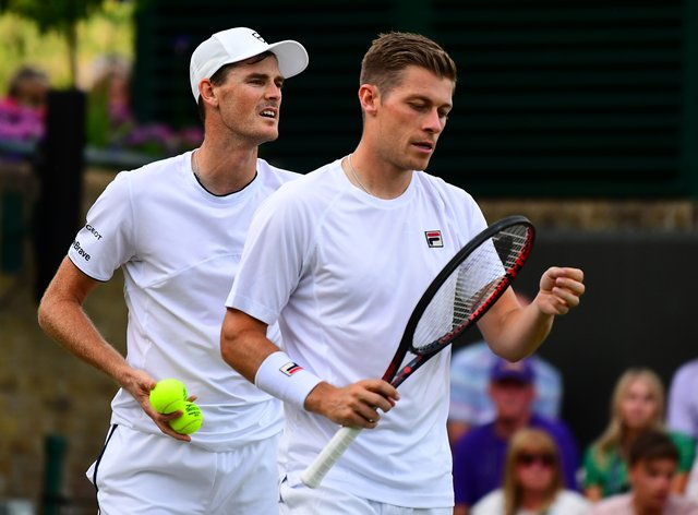 Jamie Murray (left) and Neal Skupski are outsiders to qualify for the ATP Finals after defeat in Paris