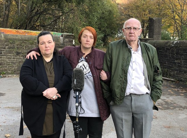 From left, Claire Lewis, Debbie Mountjoy and David Lewis