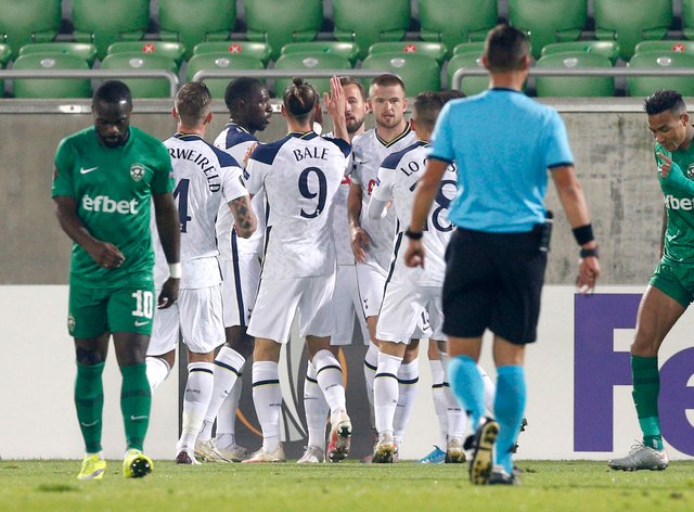 Harry Kane scored his 200th goal for Tottenham in the Europa League win at Ludogorets (