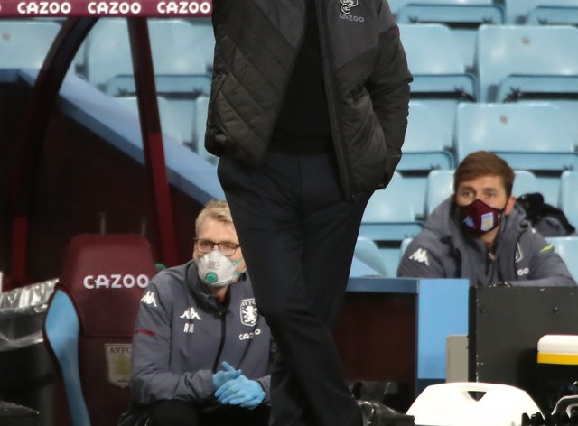 Aston Villa manager Dean Smith takes his side to Arsenal on Sunday.