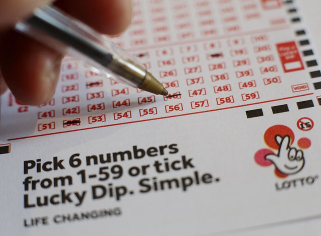 National Lottery form