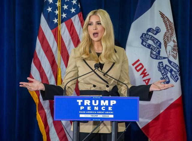 Trump's daughter Ivanka said her tweet was not a 'partisan statement'