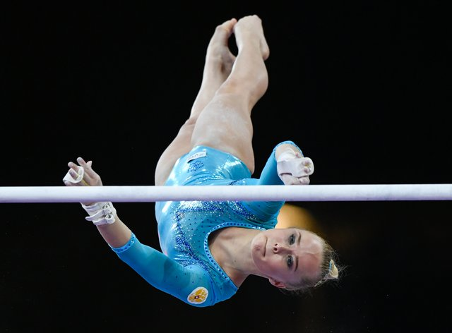 Angelina Melnikova says she feels 'comfortable' at the venue ahead of Tokyo's one-off gymnast event