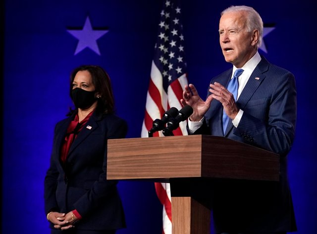 Former Vice President Joe Biden speaks in Wilmington
