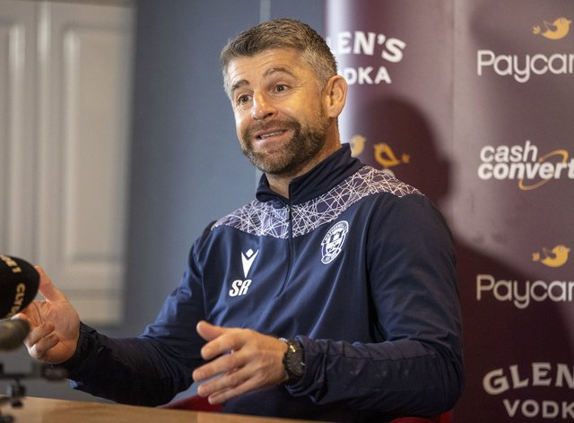 Motherwell manager Stephen Robinson is delighted with his team's recent form