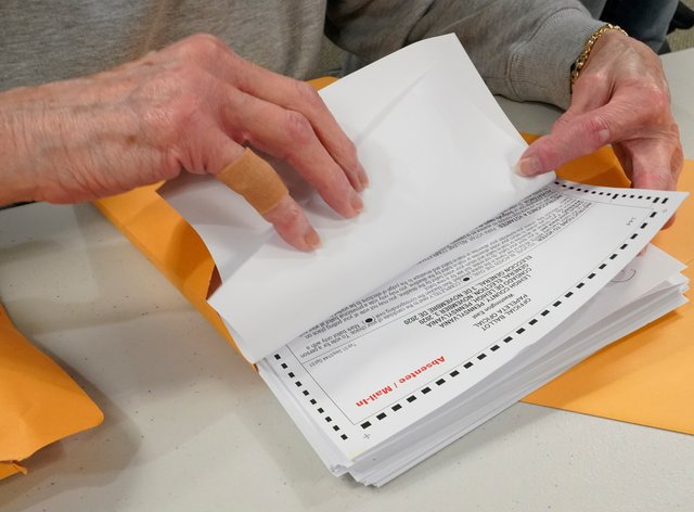 Votes being counted in the swing state of Pennsylvania