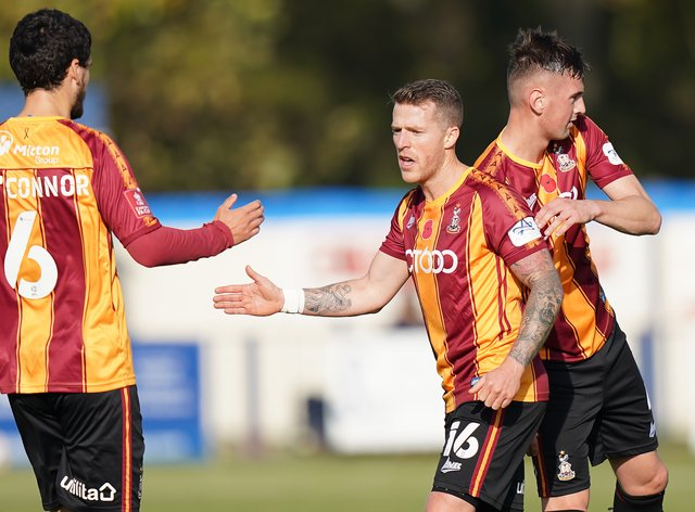 Billy Clarke was on target as Bradford won in the FA Cup