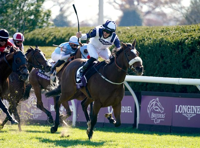 Tom Eaves and Glass Slippers struck for Europe in the Breeders' Cup Turf Sprint