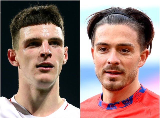 Declan Rice (left) and Jack Grealish have been backed by the England boss
