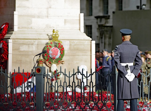 Poppies at Cenotaph, London