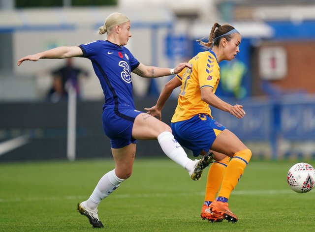Beth England scored twice for Chelsea