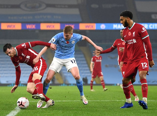 Manchester City and Liverpool share spoils at the Etihad Stadium