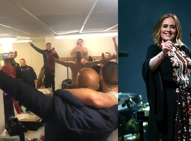 Chorley celebrate their 3-2 FA Cup win against Wigan with an Adele singalong