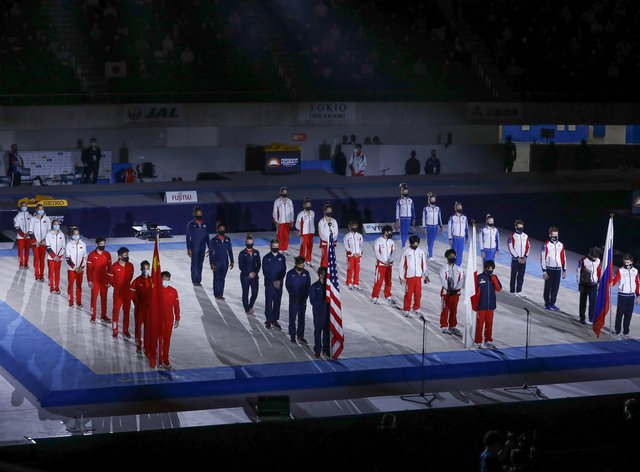 Tokyo's one-off gymnastic event saw four nations compete