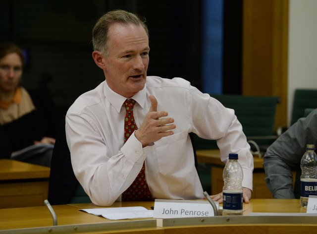 John Penrose said he had so far not shown symptoms