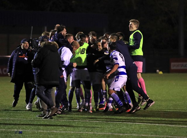 Oxford City celebrated a famous triumph
