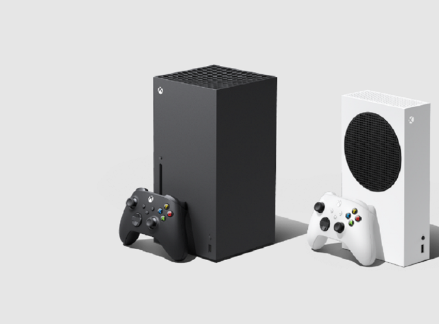 The Xbox Series X (left) and Series S