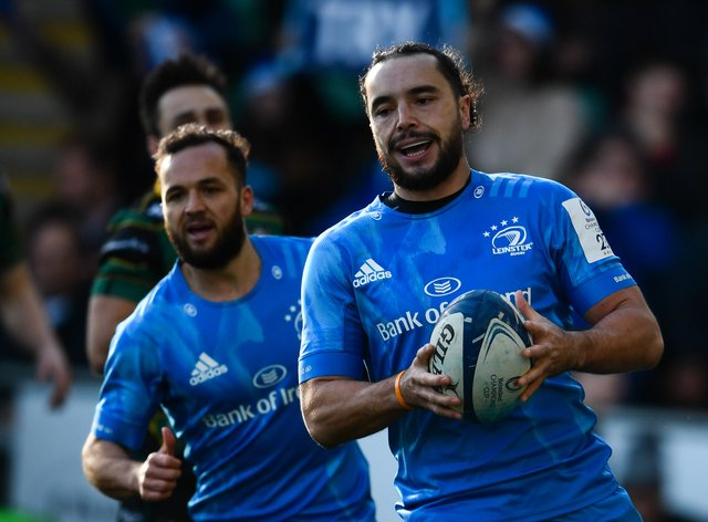 James Lowe (right) can add an extra dimension to Ireland's side, according to head coach Andy Farrell