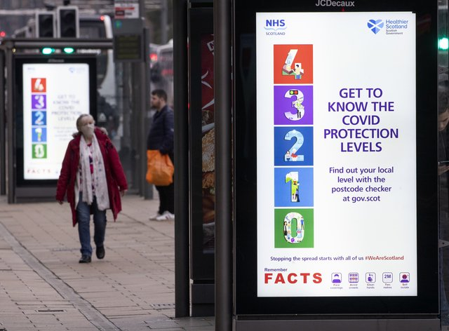 Signs illustrating Scotland's five-tier system