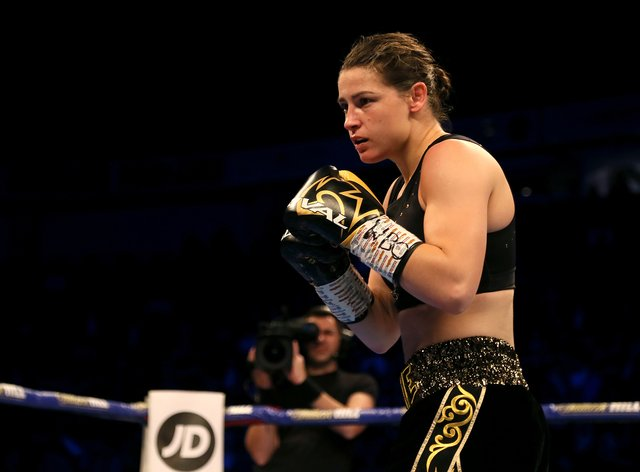 <p>Taylor will defend her four world lightweight titles on Saturday night</p>