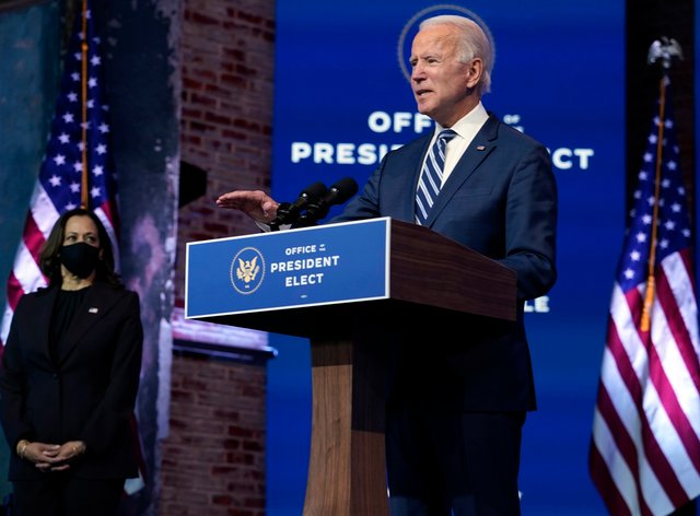 <p>Mr Biden downplayed the impact of the Republican resistance</p>