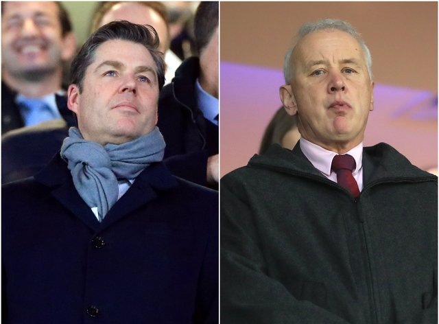 Premier League chief executive Richard Masters, left, and EFL boss Rick Parry, right, have been locked in talks