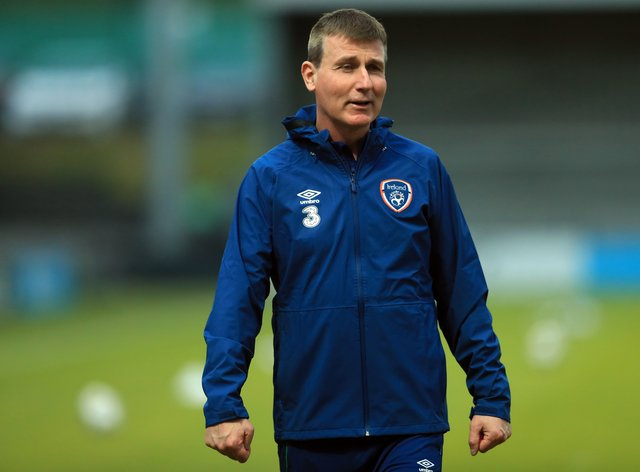 Republic of Ireland manager Stephen Kenny will have to do without strikers Callum Robinson and Aaron Connolly against England